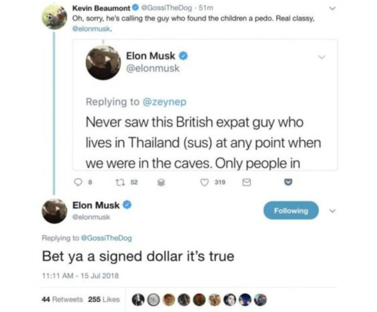 Elon Musk haukkui Thaimaan pelastusoperaation sukeltajaa pedofiiliksi –  Lupasi videon sukellusveneestään luolassa a7c5a0e44a
